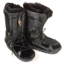 BRAND NEW BLACK SHEARED ARCTIC BEAVER FUR WINTER BOOTS MEN WOMEN