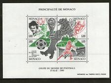 MONACO 1990 ITALY WORLD CUP COMMEMORATIVE MINIATURE SHEET MNH