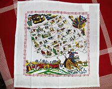 Retro Vintage Style Souvenir Cotton FlourSack 50's Kitchen Towels-WESTERN STATES