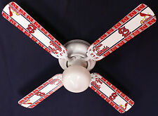 New Mlb St. Louis Cardinals Baseball Ceiling Fan 42""