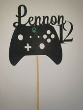 Personalised Xbox 1 Gaming Controller Glitter Card Cake Topper