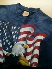 Mens The Mountain American Eagle Patriotic Short Sleeve T Shirt Size Large L