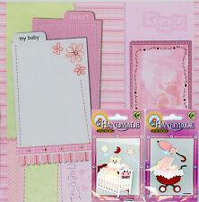 Scrapbook Kit - My Baby (Girl) - Deko Stickers