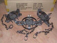 3 New Duke # 1 1/2 Coil Spring Traps  Raccoon Fox Mink Nutria Trapping NEW SALE