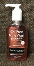 Neutrogena Oil-Free Acne Wash, Pink Grapefruit Facial Cleanser,  6 oz