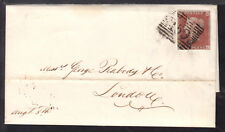 GREAT BRITAIN #3 1p on 1852 GLASGOW LETTER SHEET TO LONDON, ENG.