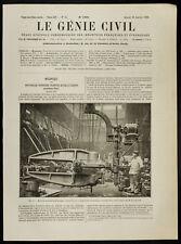 1909, Riveuse hydraulique. Mécanique & Industrie