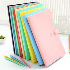 A4 Plastic File Document Bag Cover Folder Card Office Holder Organizer Fastener