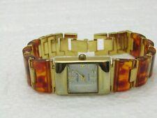 "Alex L ladies Faux Tortoiseshell Bracelet Watch, 7.5"""