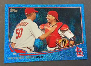 2013 Topps Blue Sparkle Yadier Molina Parallel SP Wrapper Redemption RARE!