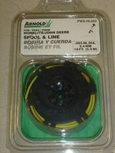 NOS! ARNOLD MTD .095 TRIMMER SPOOL & LINE, PWS-HL002, for HOMELITE, JOHN DEERE