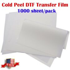 Us Stock A3 117 X 165 Cold Peel Dtf Transfer Film 1000 Sheetspack