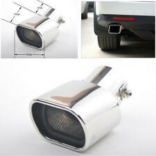 1* 63mm Straight Stainless Steel Exhaust Tail Rear Muffler Tip Pipe End Silver