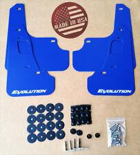 StreetRays 08-15 Mitsubishi EVO X Mud Flaps Set BLUE with Logo & Hardware Kit