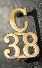 C.E.F. C OVER 38 collar badge -J.R. Gaunt, London (Royal Ottawa Battalion)