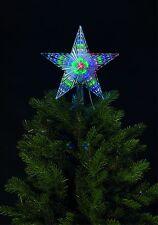 31 LED 24CM DIAMETER STAR MULTI-EFFECT CHRISTMAS TREE TOP STAR