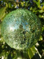 Glaskugel Gartendeko Kugel Mint Grün Hellgrün Rosenkugel Glas Antik Bauernsilber