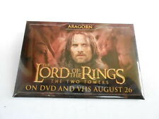 """Vintage 3"""" x 2"""" Pinback Button #60- 023 - Lord Of The Rings Two Towers - Aragorn"""