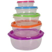 10pc Food Storage Container Set with Lids Airtight Reusable STACKABLE Lunch Box