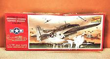 1/72 LINDBERG GRUMMAN AVENGER TORPEDO BOMBER MODEL KIT # 480-100