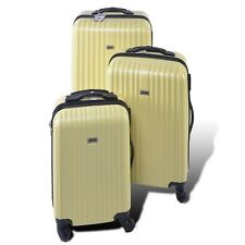 Penn 3 Piece Trolley Set Travel Luggage Bag Shockproof Suitcase Pastel Yellow
