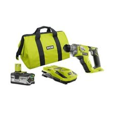 Cordless Rotary Hammer Drill Kit 1/2in Lithium Ion 18V 4.0Ah Battery Charger Bag