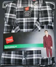 Hanes #5310 NEW Men/'s Plaid 100/% Cotton Flannel Pajama Set
