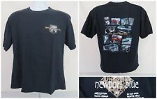Newport Blue Men T Shirt Size Medium Still Plays With Cars Black Cotton