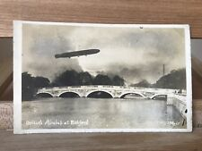 More details for rare rppc postcard of the r31 airship over bedford bridge, bedford