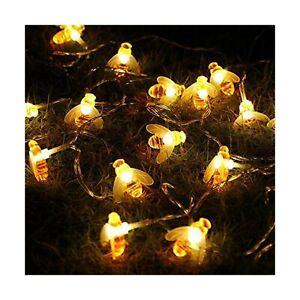 Honeybee Fairy String Lights, ER CHEN 10Ft 20 LED Honeybee Battery Power Led ...