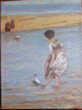 ORIGINALE Olandese dipinto, olio su tela, firmato, inscritto E DATATO VERSO.