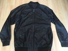 Firetrap PU Bomber Jacket faux leather Mens full zip UK size XL