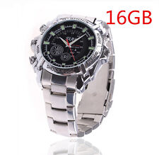 16GB Spy Hidden HD Video Watch Camera DV DVR Night Vision Cam 1080P Chargeable