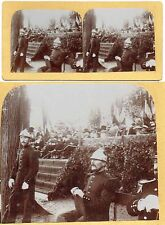 vue stéréo  POMPIERS vers 1890