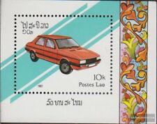 Laos Bloque 117 (completa edición) nuevo con goma original 1987 coches