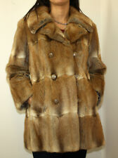 Bassarisk Vintage Fur Coat Super Soft Rock Sable Excellent Cond Womens Medium