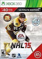 NHL 15 -- Ultimate Edition (Microsoft Xbox 360, 2014) - No Manual