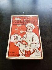 CALENDRIER COMPLET 1937 - Pour la Ménagère - 365 Recettes Culinaires