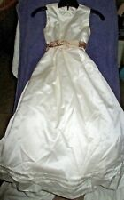 Vera Wang Sz 10 Cream Junior Bridesmaid Flower Girl Dress Tulle