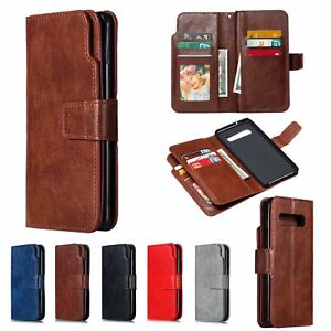 For Samsung Galaxy Note10 S10 S9 PLUS Flip Leather Wallet Card Stand Phone Case