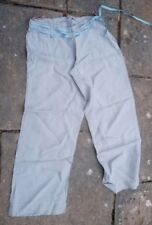 Light Grey Linen Trousers By White Stuff Size 12