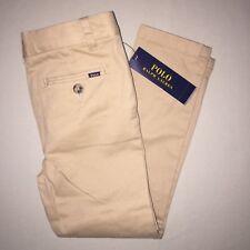 Boys Size 5 Polo Ralph Lauren Classic Fit Pants Uniform Khaki Nwt