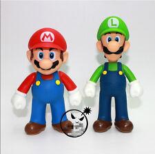 "Super Mario Bros. - 4.75"" MARIO & 5"" LUIGI Action figures Dolls Free SHIPPING"