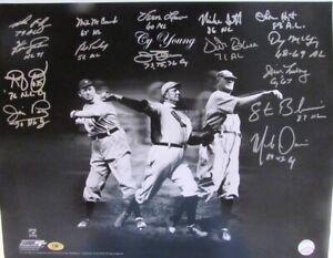 (15) Original Sigs -CY Young Winners 16x20 Photo Signed w/ Palmer+++ (MAB Holo)