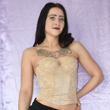 Strapless Brown Corsage with Lace 75B Full-Breast Corsage Lingerie Sexy Lingerie