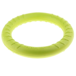 Pet Flying Ring Puppy Fetch Toy Bite Toy for Training Fluorescent Green