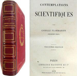 Contemplations scientifiques 1876 Camille Flammarion nature industrie science