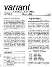 Variant Magazine # 1 Traveller Deck Plans, AD&D D&D