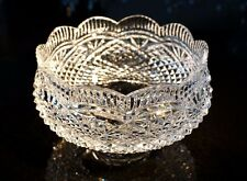 Stunning Waterford Crystal Heavy Cut Apprentice 8in Centerpiece