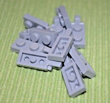 (8) 2x1 Light Gray Plate w/ Tab Connector on End ~ Lego  ~ NEW ~